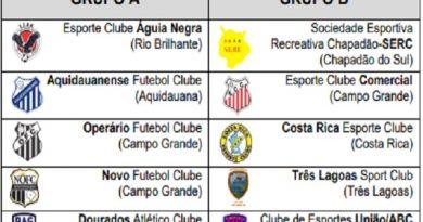 Tabela do Campeonato Sul-mato-grossense série A 2021